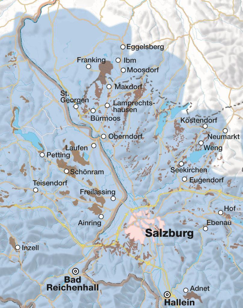 Moorkarte. Kartografie: H. Guggenberger